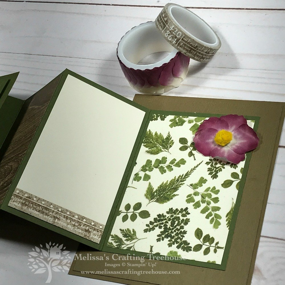 Do you enjoy seeing different folds for cardmaking? If so check out my Fanfare Fold card featuring the Pressed Petals suite.