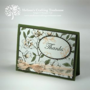 Easy card making ideas often start for me with Stampin' Up! designer series papers. Today's project features the gorgeous Magnolia Lane paper and stamp set.
