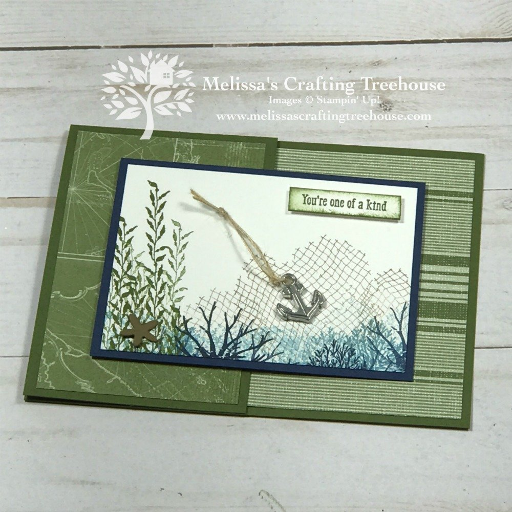 Today's two tutorial bundle projects feature a nautical theme. One is a simple Dutch Door Fun Fold card and the other uses two simple Must-Know Techniques.