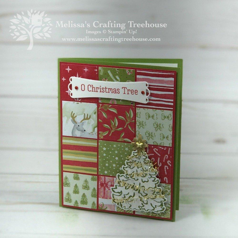 2020 Christmas Card Ideas Christmas Card Idea with a Product Medley   Melissa's Crafting