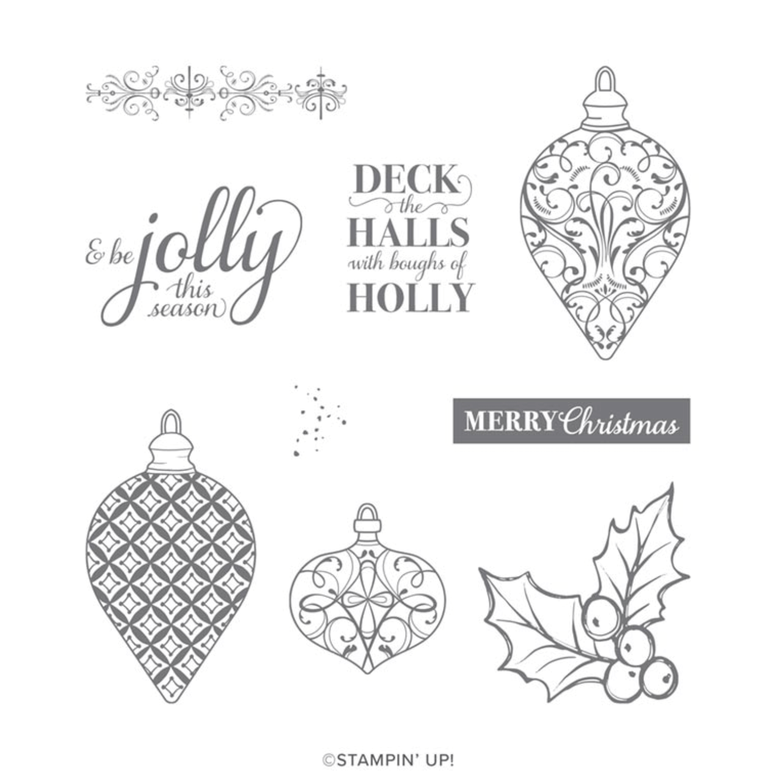 Christmas Gleaming Stamp Set Stampin' Up!