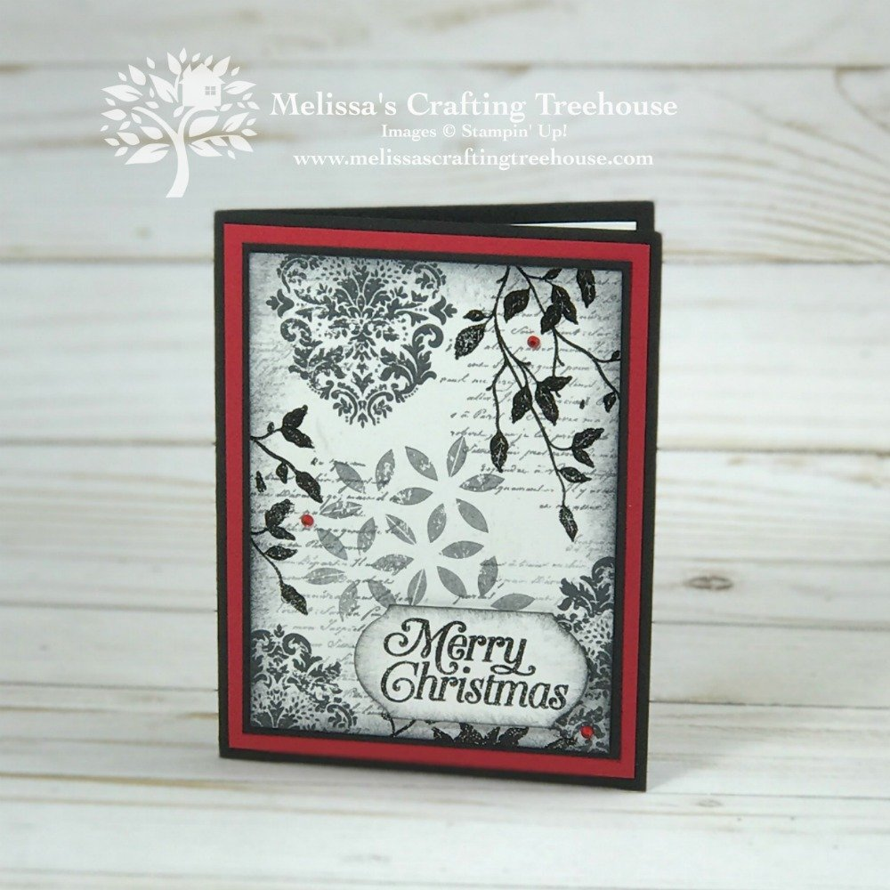 Today's project features collage stamping plus two techniques every crafter should know! Very Versailles and Tasteful Textures Stamp Sets are used.