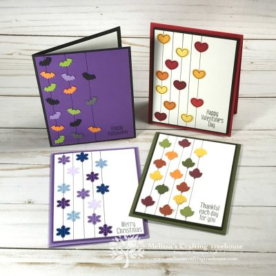 4 Cards with To Every Season Stamp Set