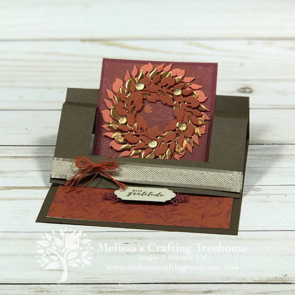 Check out the card that inspired my Swing Easel Cards with a Christmas theme! These fun fold cards include a multilayered wreath made with the All Around Wreath Dies!