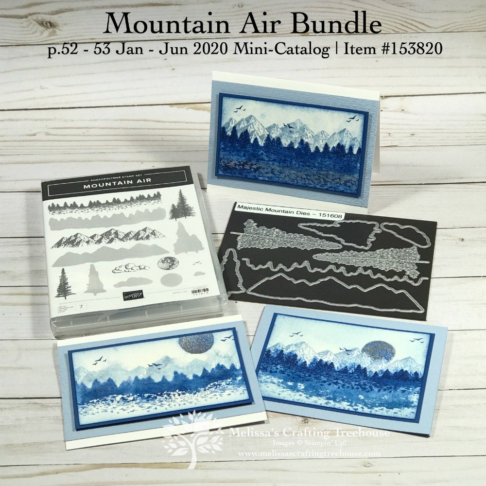 Check out the December 2019 Color Challenge and Color Fusers Blog Hop. The featured product is the NEW Mountain Air stamp set from the NEW Mini Catalog.