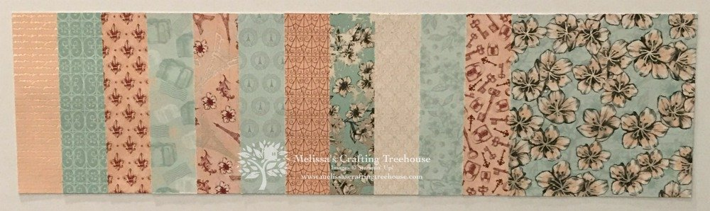 "Check out the product suites from the NEW Jan - Jun 2020 Mini Catalog! Get a ""taste"" of the suites you love with my unique ""Taste of a Suite"" product shares! Learn more here! Parisian Blossoms Designer Paper shown here."