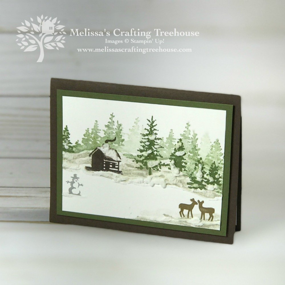 In this post, you'll learn a simple trick for creating two different cards with the same exact cardstock and layering with one simple change. Today's cards feature winter scenes with the Snow Front Set.