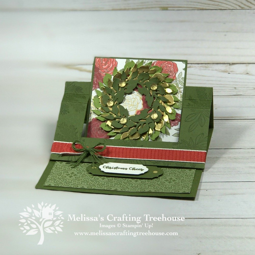 Check out my two Swing Easel cards with a Christmas theme! These fun fold cards include a multilayered wreath made with the All Around Wreath Dies!