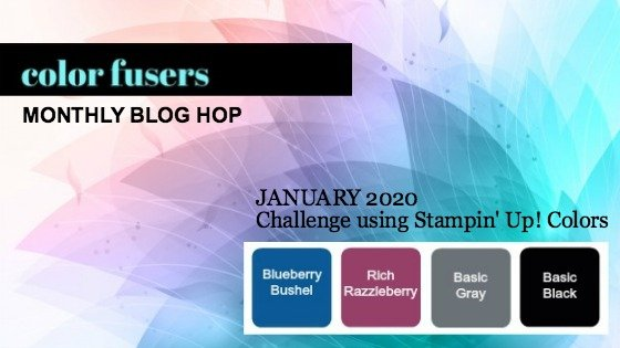 Today's projects were made for the January 2020 Color Challenge and Color Fusers Blog Hop.