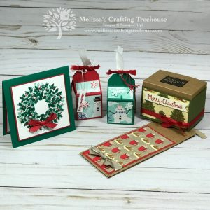 In today's post, I'll be showing four simple Christmas projects including a card made with a fun trick on the Stamparatus, plus three simple 3-D items.