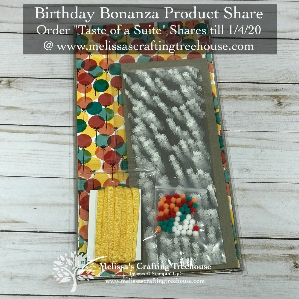 Birthday Bonanza Product Share