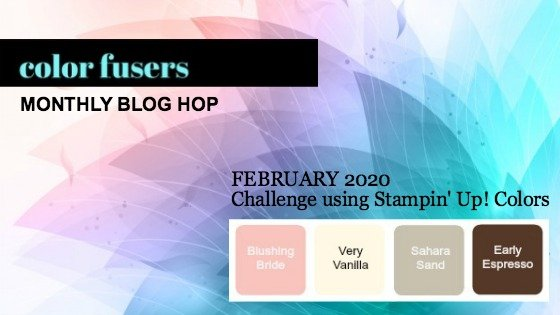 My February 2020 Color Challenge & Blog Hop project features the Happy Birthday To You Stamp Set. It's FREE with qualifying orders during Sale-A-Bration!