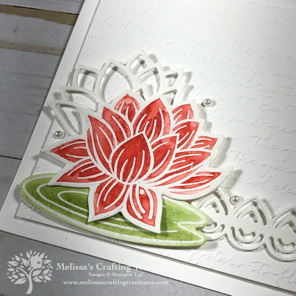 Check out these WOW Projects that are so simple to make! One uses what I call the Burnished Baroque Technique with the Parisian Flourish Embossing Folder! The other one uses the Lovely LillyPad Stamp Set and Dies.
