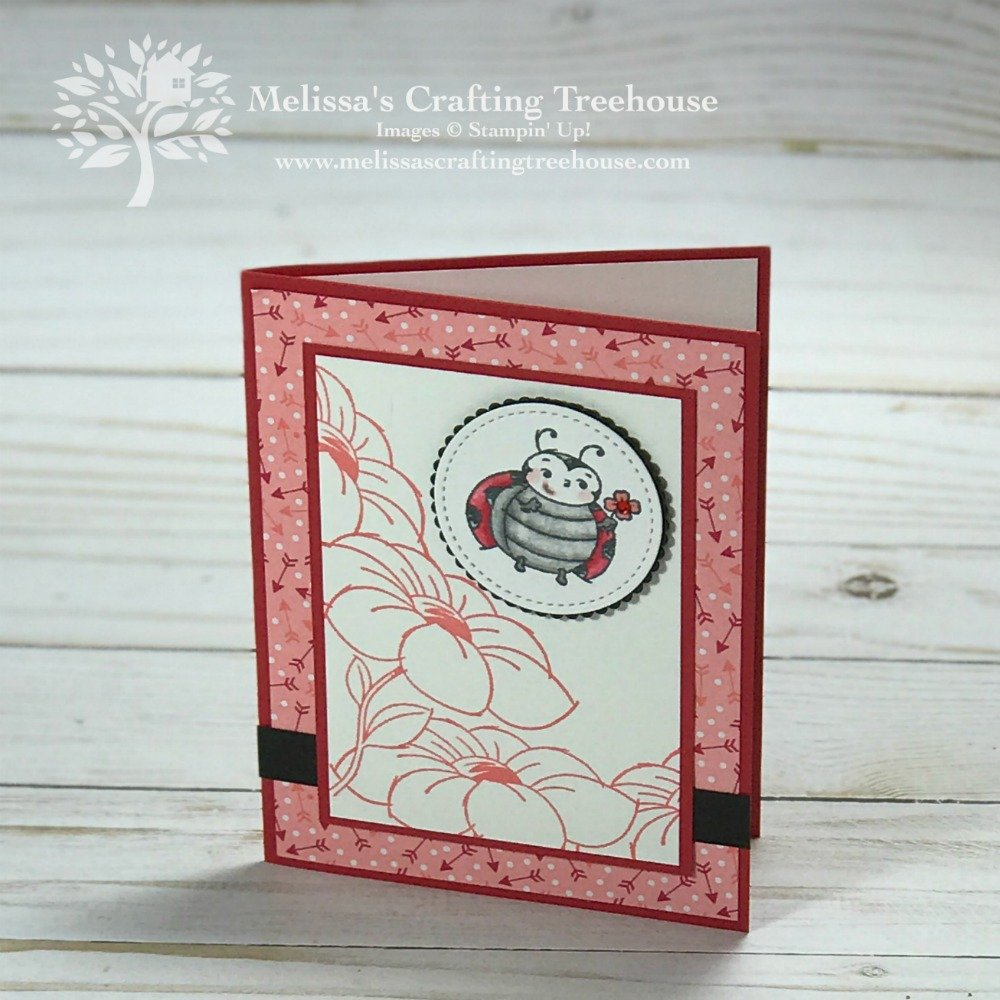 Today's tutorial bundle sneak peeks feature the From My Heart Stampin' Up! suite plus I've used the Detailed Hearts Die and Little Ladybug stamp set.