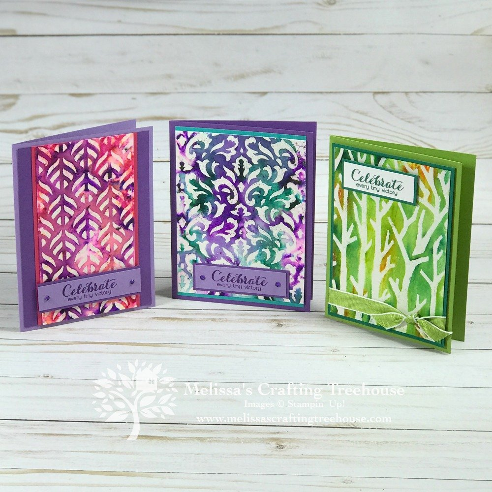 Stampin' Up! decorative masks have so many fun uses! Today's projects use heat embossing and pigment sprinkles with masks, for some super fun results!