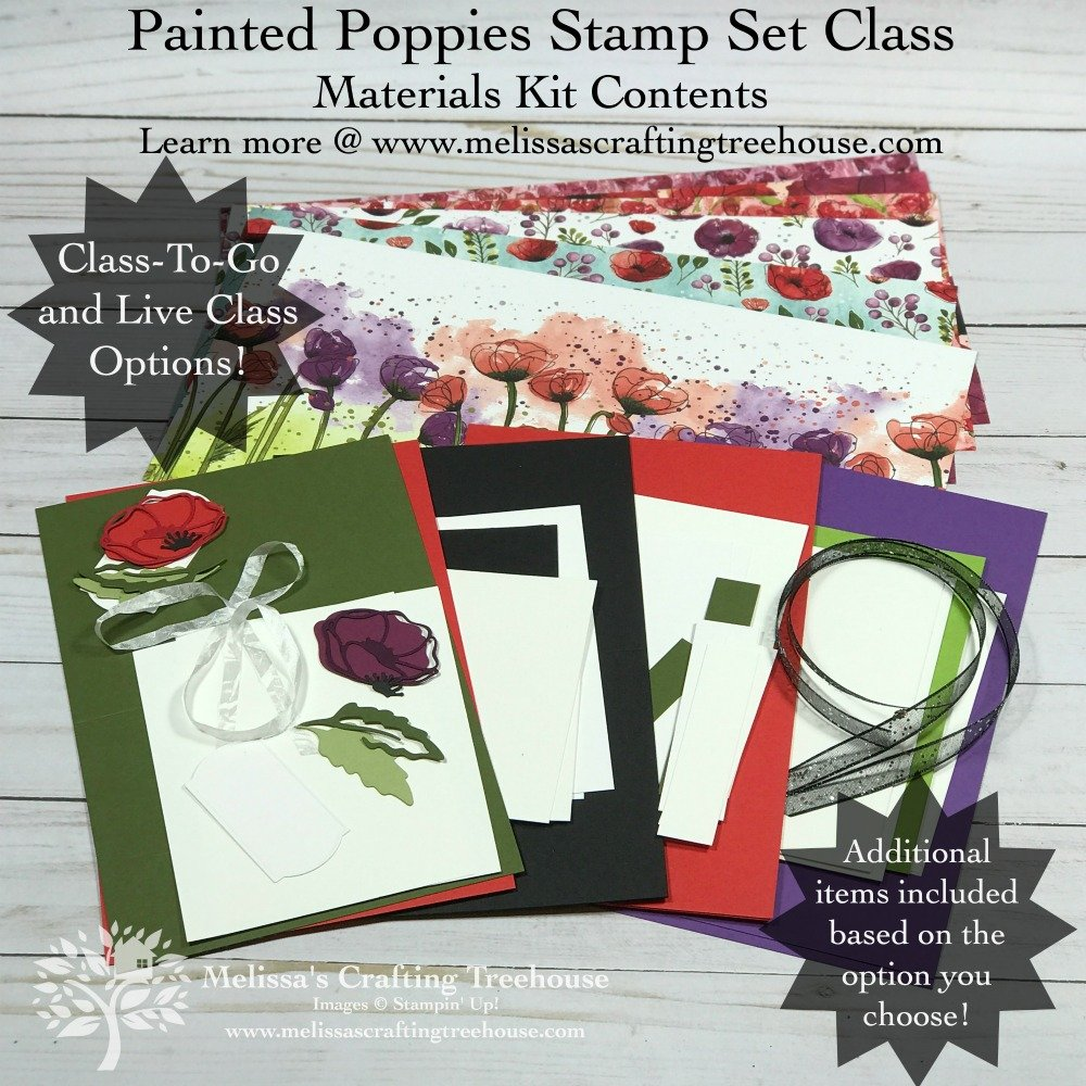 Painted Poppies Class Materials Kit