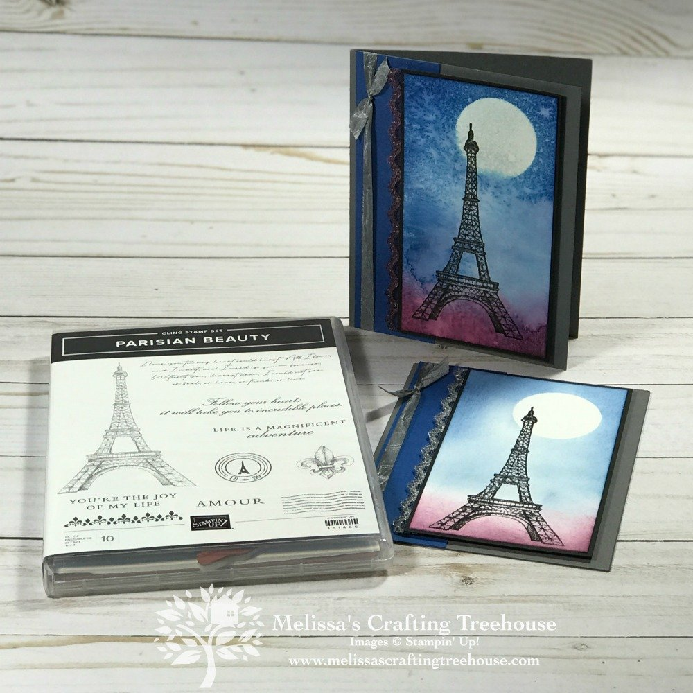 Today's cards feature the Parisian Beauty Stamp Set and were created for the January 2020 Color Challenge. These are also a Club and Free Card Kit Project.
