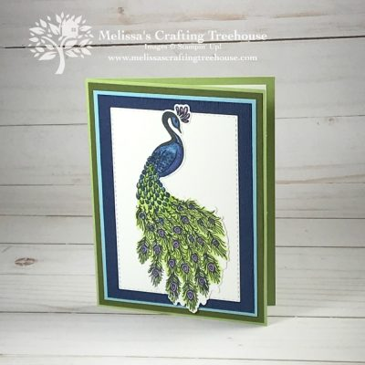 Simple Card with the Royal Peacock Bundle