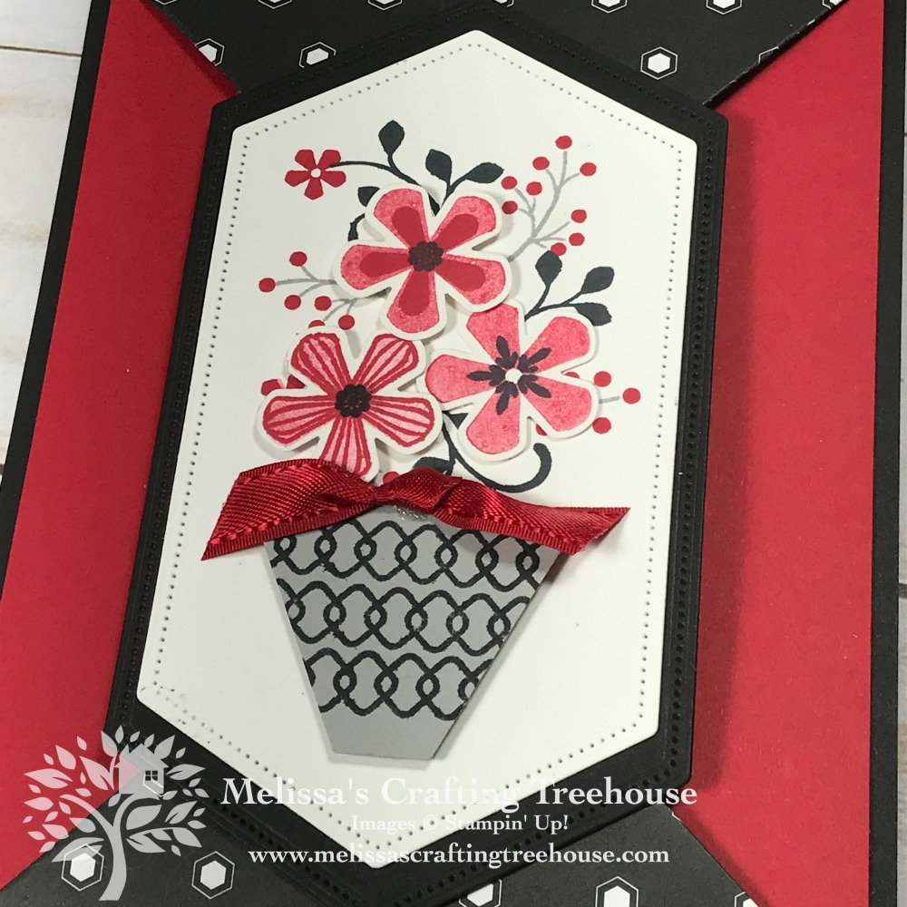 This Double Point Fold Card uses the Thoughtful Blooms Stamp Set & Punch. They're FREE with qualifying orders till 3/31/2000. Check out this Fun Fold!