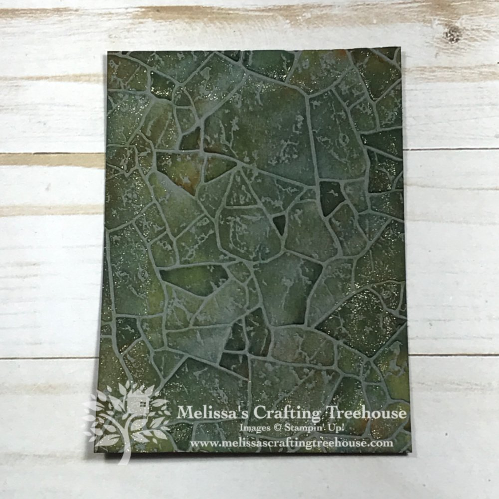 See some fun ideas for creating colored flagstone with the Stone Embossing Folder which is in the Power of Hope Bundle. Get this FREE during Sale-A-Bration!