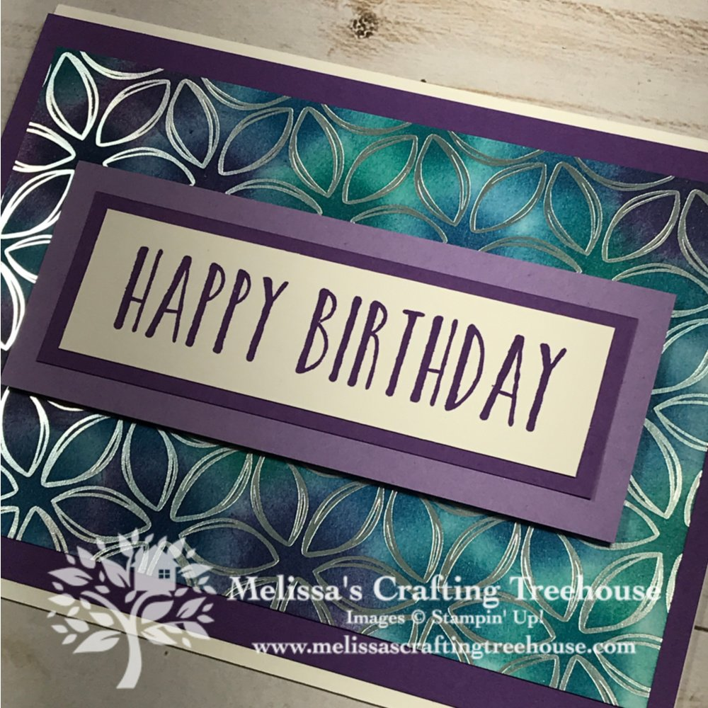 Adding color to the Flowering Foils paper is so easy. See 4 cards made with 3 coloring methods with this copper and silver embossed paper!