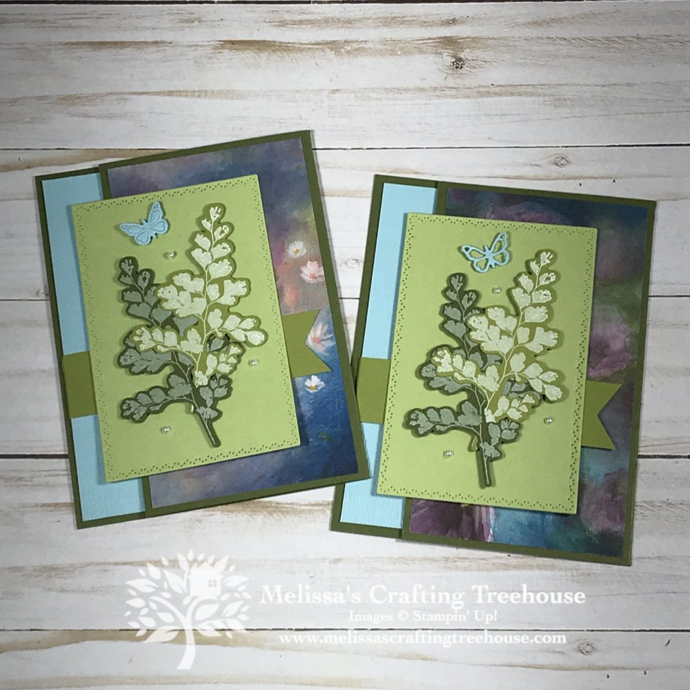 Today's card features a Natures Thoughts Dies Fun Fold Card that also uses the Perennial Essence designer paper. Learn how you can get FREE card kits!