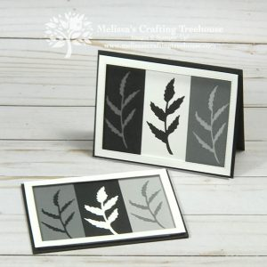 It's a two for one! Make a simple card with peaceful moments dies that's also striking and unique. Then, make a second card with the leftover pieces!