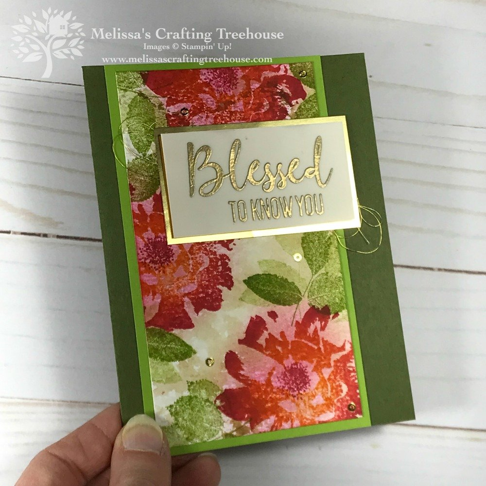 This unique DIY Rose Card with To A Wild Rose Stamp Set was created to have an antiqued look and multicolored roses. I made my own ink pad to get this look.