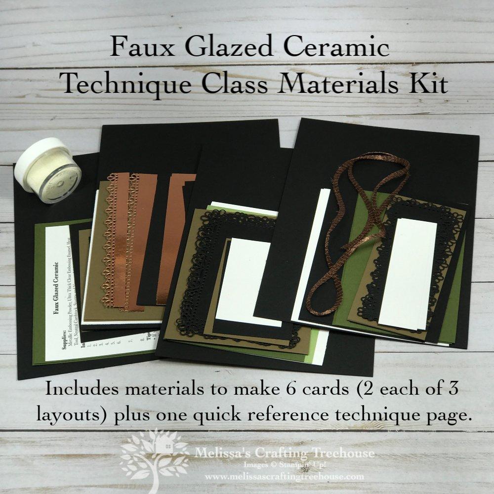 Faux Glazed Ceramic Technique Class
