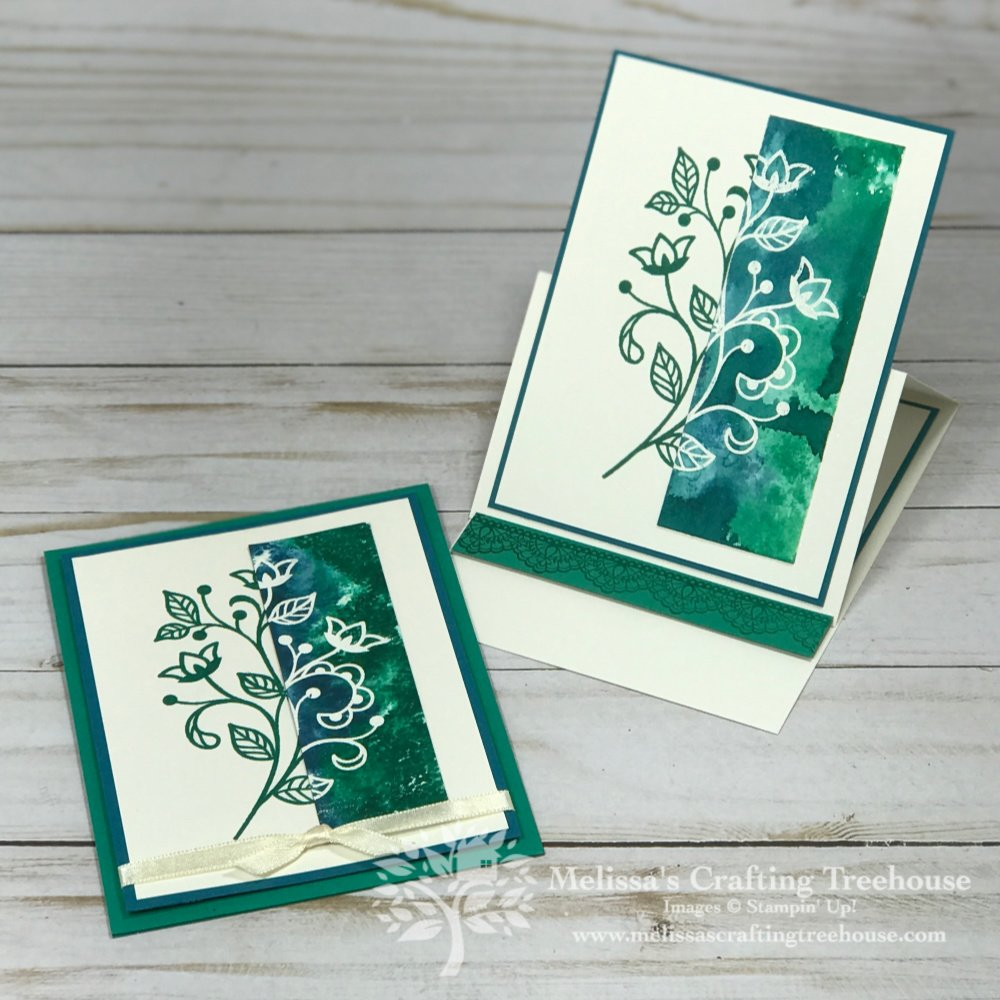 Check out this fun project featuring Heat Embossing with Tear and Tape plus masking. I'm also showcasing the retiring Flourishing Phrases Stamp Set.