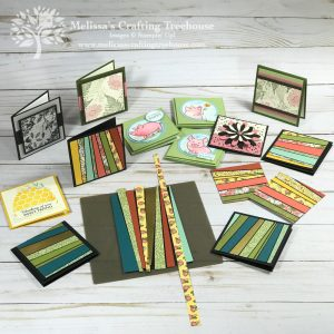 Check out these adorable 3 x 3 Mini Note Cards. I've used a variety of stamp sets plus made several with the scrappy strips technique too!