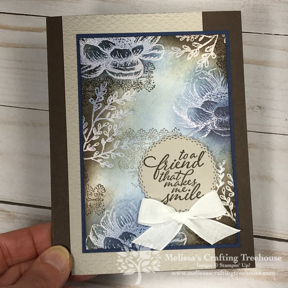 I am having so much fun with the Tasteful Touches Stamp Set from the 2020 - 2021 Annual Catalog! Projects feature heat embossing and sponging.