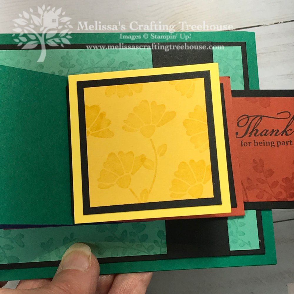 Today's projects feature two waterfall cards, one of my favorite fun folds. New stamp sets shown include Beautiful World, Lovely You & Tasteful Touches.
