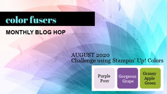 August 2020 Color Challenge and Blog Hop!
