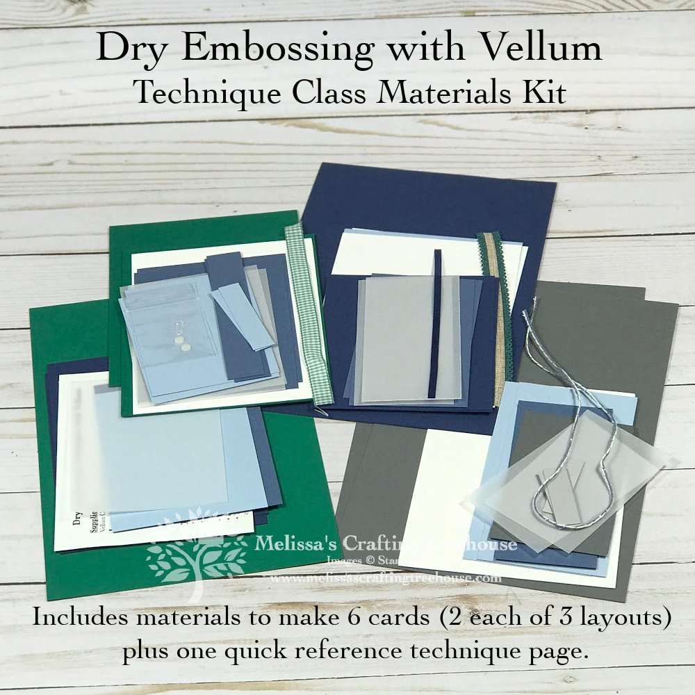 Technique Class Dry Embossing with Vellum