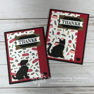 Simple Cards with the Playful Pets Paper