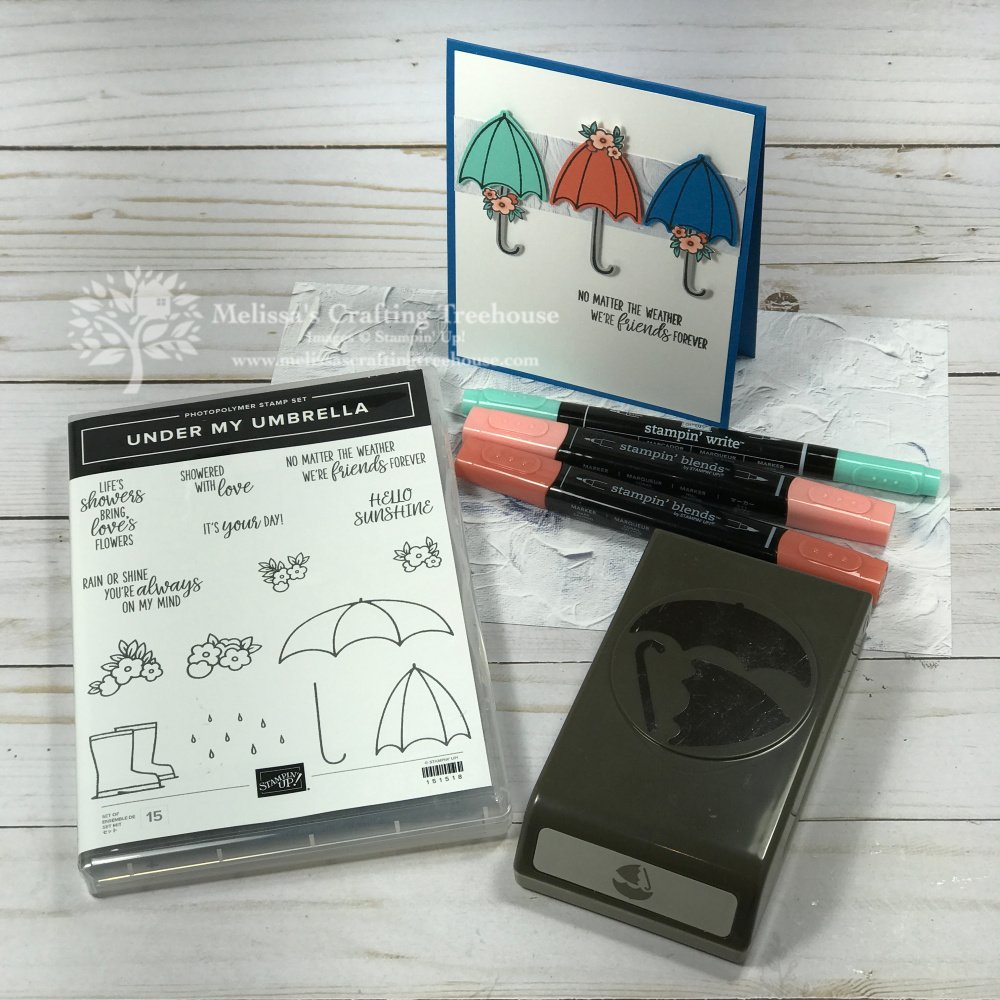 Check out the July 2020 Color Challenge and Color Fusers Blog Hop with the Under My Umbrella Stamp Set and Umbrella Builder Punch.