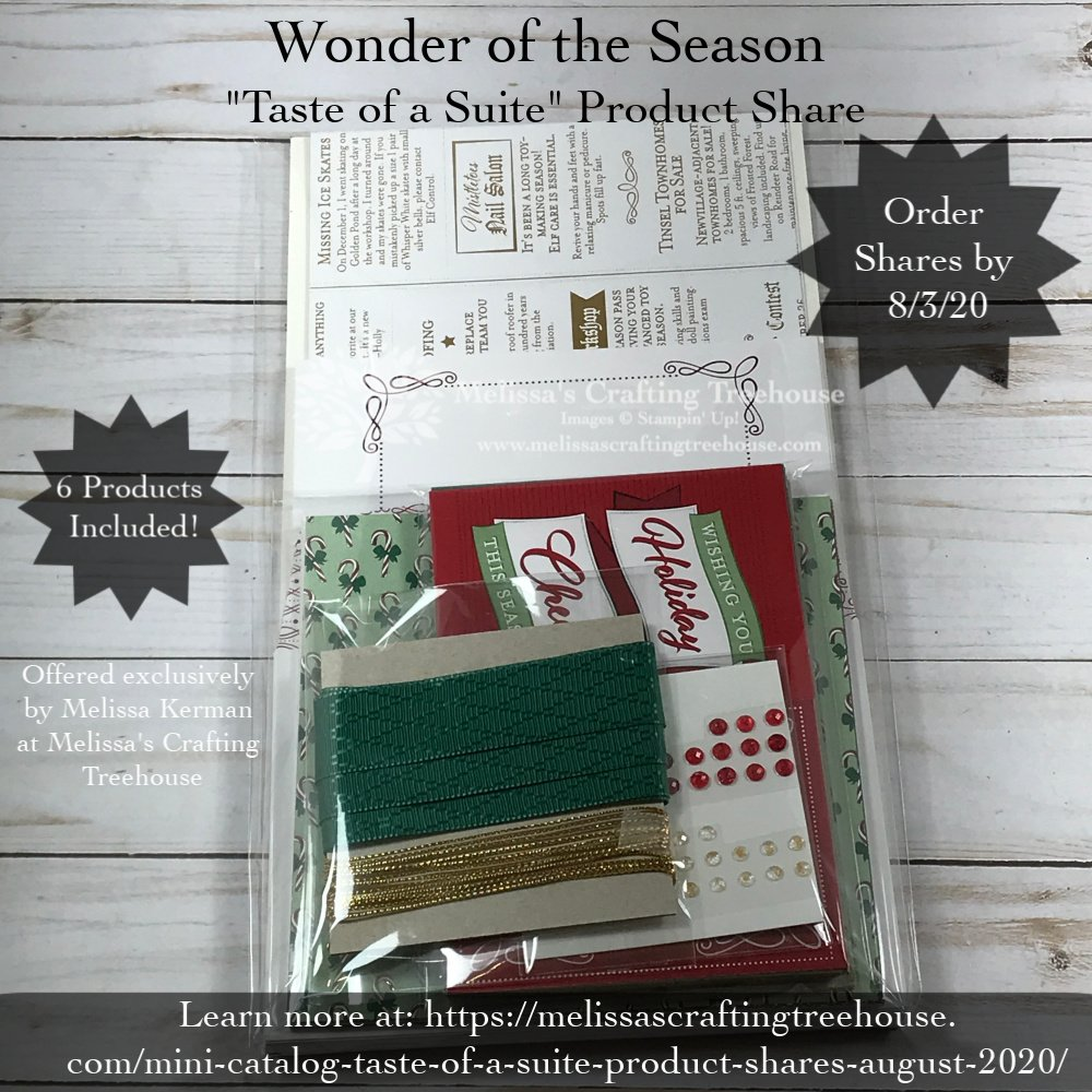 August to December 2020 Mini-Catalog Product Shares