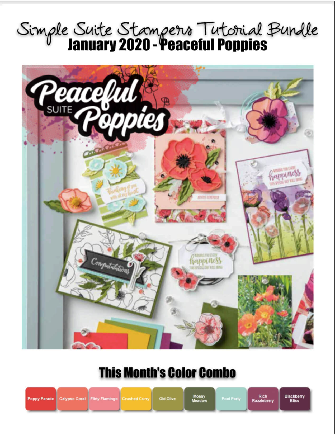 Painted Poppies Tutorial Bundle
