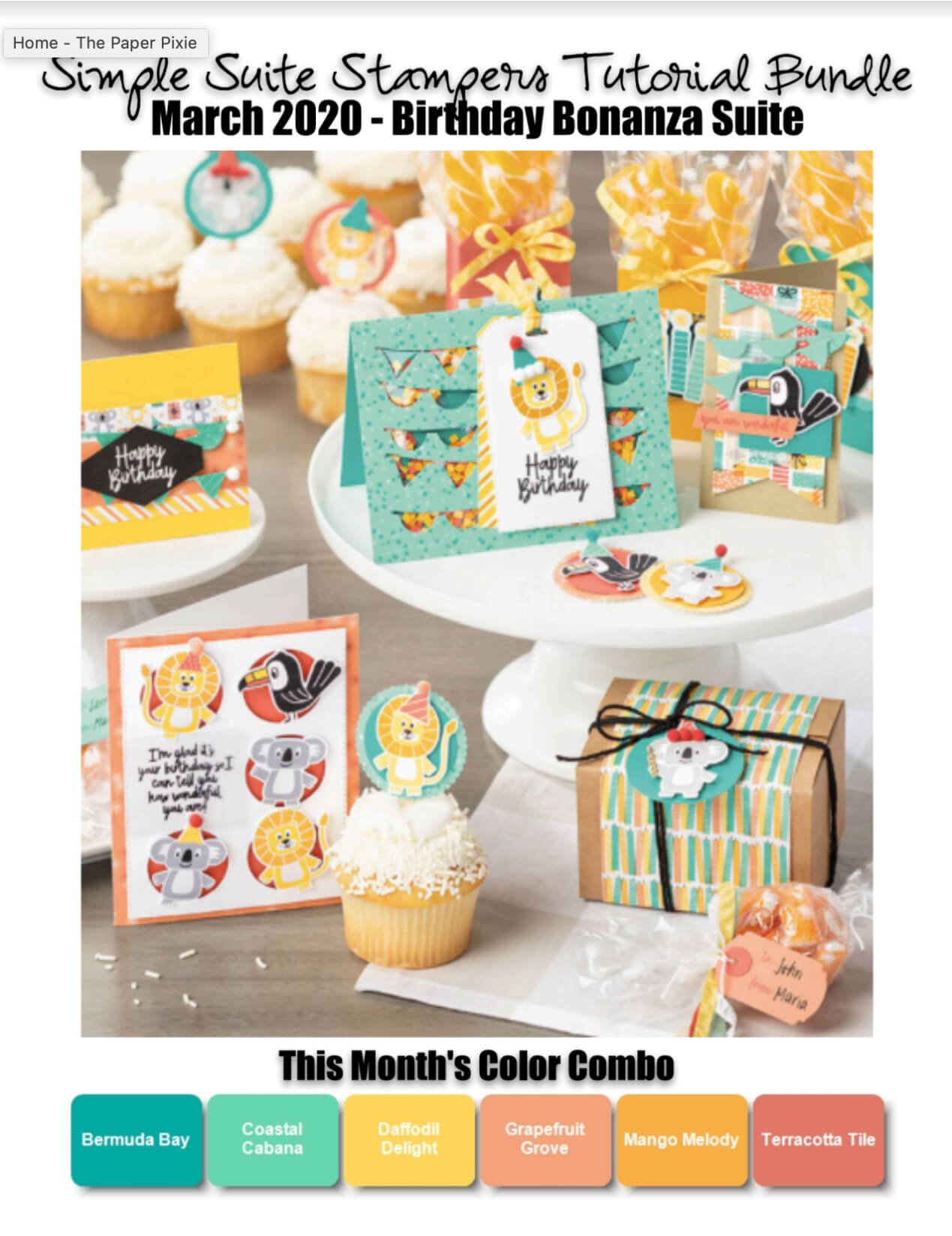 Birthday Bonanza Tutorial Bundle