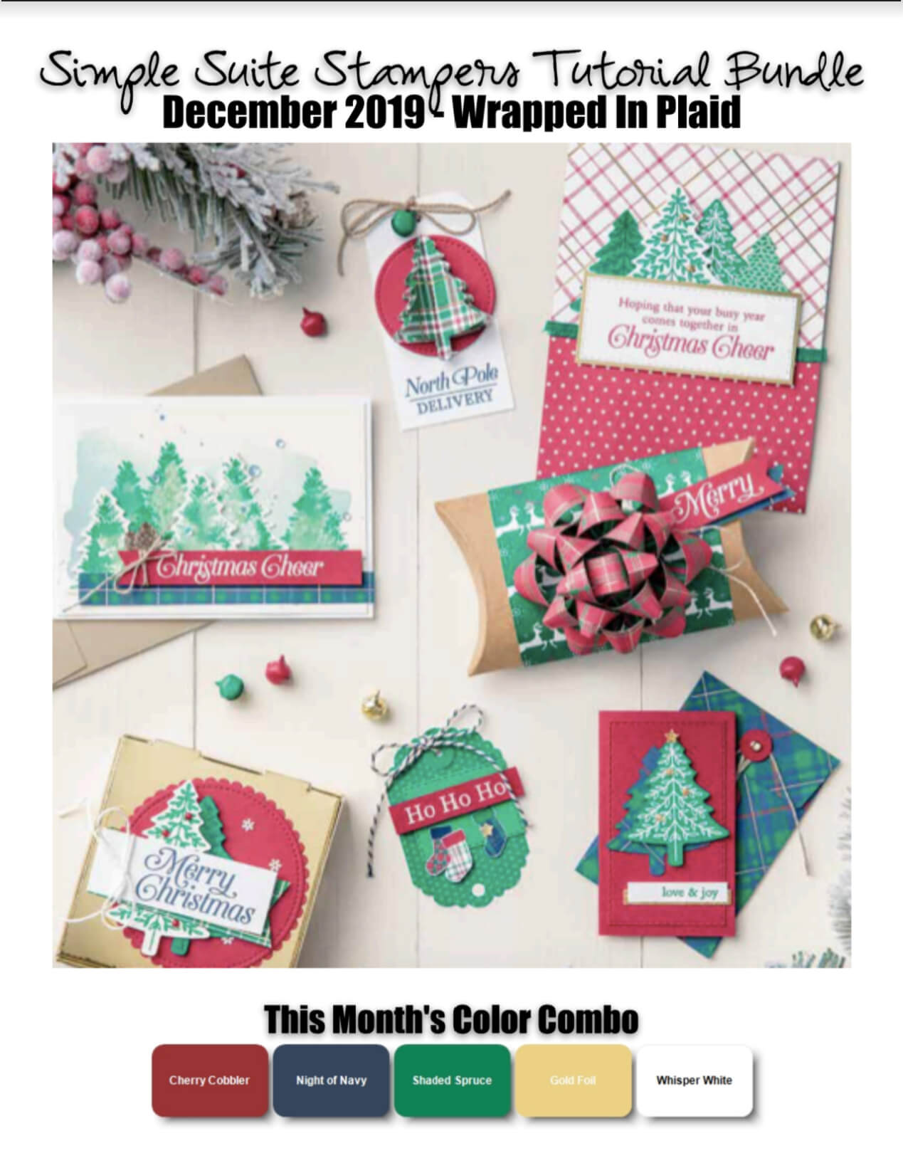 Wrapped In Plaid Tutorial Bundle