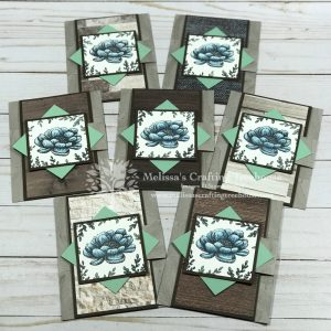 Fun Fold card made with the Tasteful Touches Set