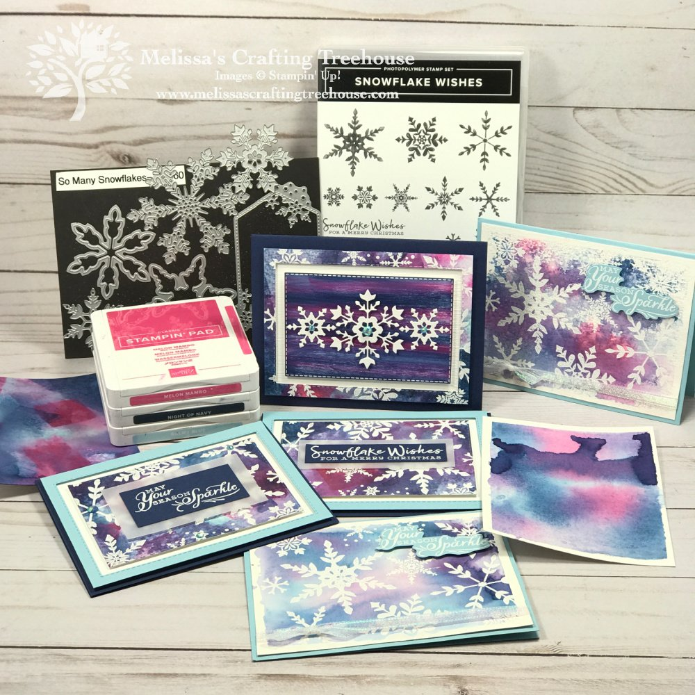 Are you ready for some Inky Fun with the Snowflake Splendor Suite? I had so much fun that I ended up with ink on my neck, hands, and a leg!
