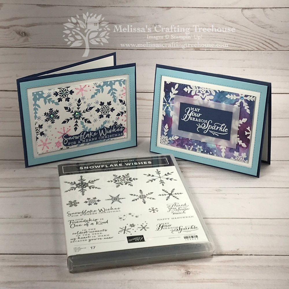 My September 2020 Color Challenge projects feature the Snowflake Wishes Stamp Set with some non-traditional and fun snowflake colors!