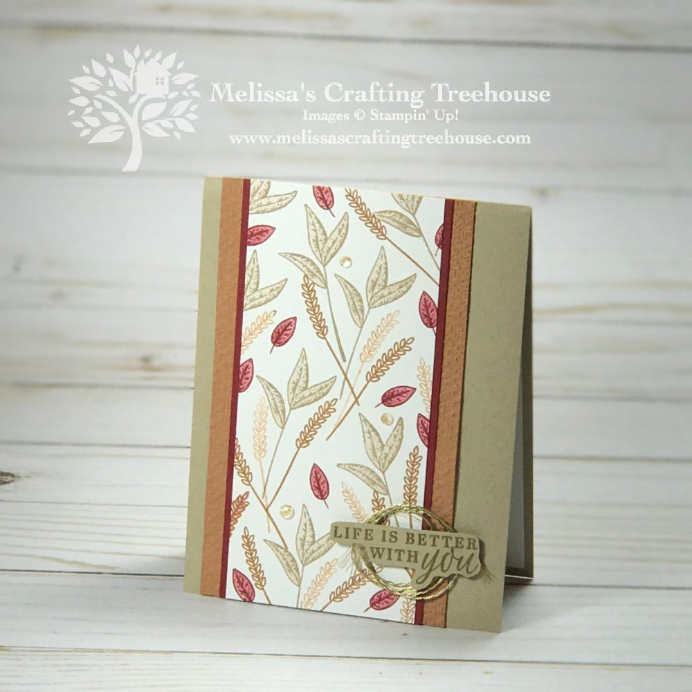 Check out the October 2020 Color Challenge and Blog Hop! For my project I've created a fall themed card with the Beautiful Autumn Stamp Set.