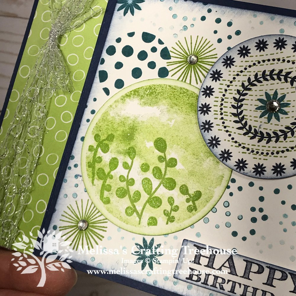 The December 2020 Color Challenge & Blog Hop is here! My fun fold card features the NEW Circle Celebration Set from the Jan 2021 mini-catalog.