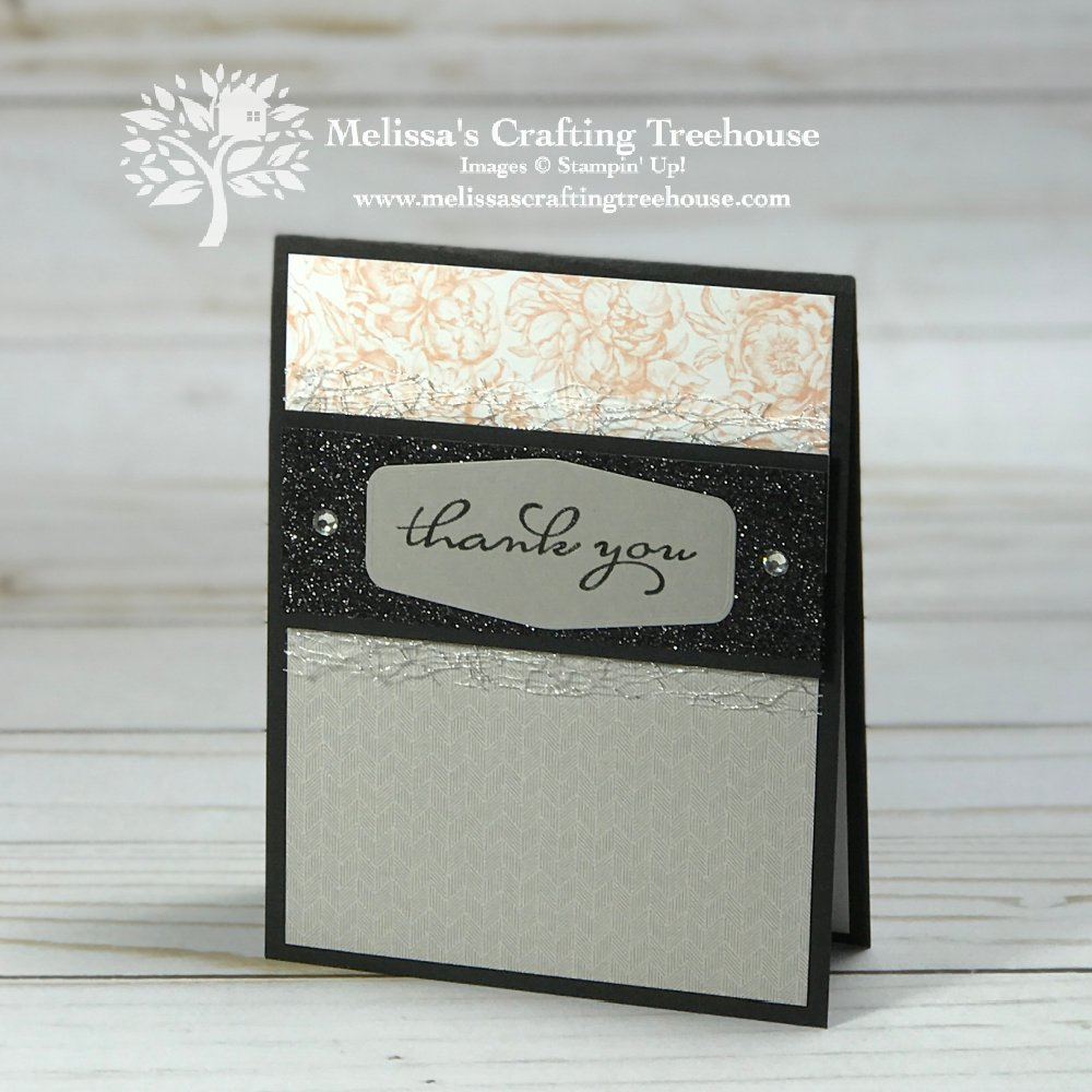 I love these Clean and Simple Cards with the Peony Garden Paper! Use this simple, elegant layout with other designer papers too!