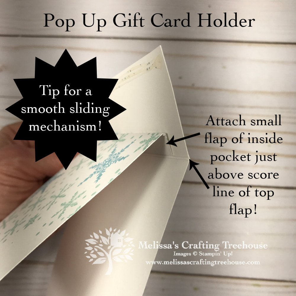 Learn how to make this Unusual Pop Up Gift Card Holder made with the Snowflake Wishes Set! See a 2nd version with the In The Pines set too!
