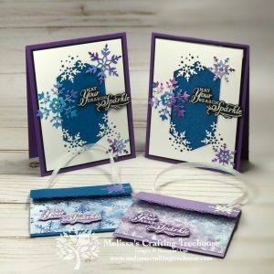 In this post learn how to make the cutest gift card holder and a coordinating card made with the Snowflake Spendor suite.