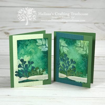 Emboss Resist Stamping Technique and the Forever Fern Bundle